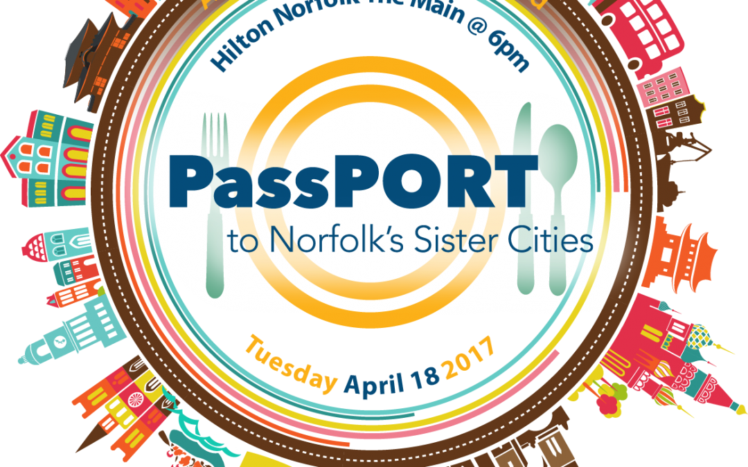 4th Annual PassPORT April 18, 6-8:30 pm at Hilton Norfolk The Main