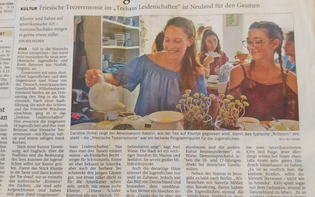 Nine Students and One Chaperone Travel to Wilhelmshaven, Germany