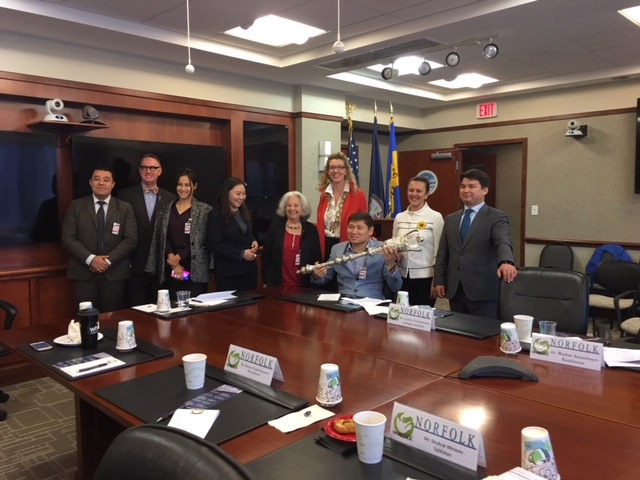 Norfolk Sister City Association Welcomes its First Rumsfeld Fellows Delegation